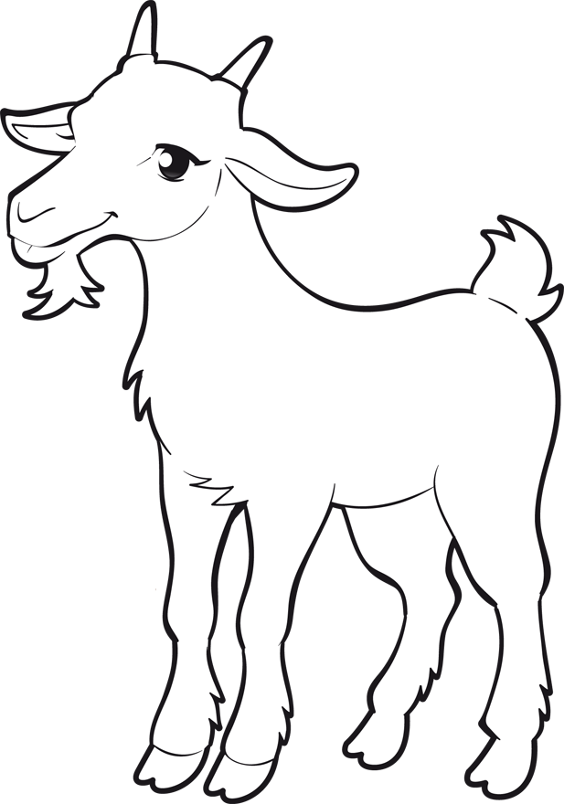 Coloriage chevre a imprimer 6 animaux dessin chevre - Dessiner un loup facilement maternelle ...