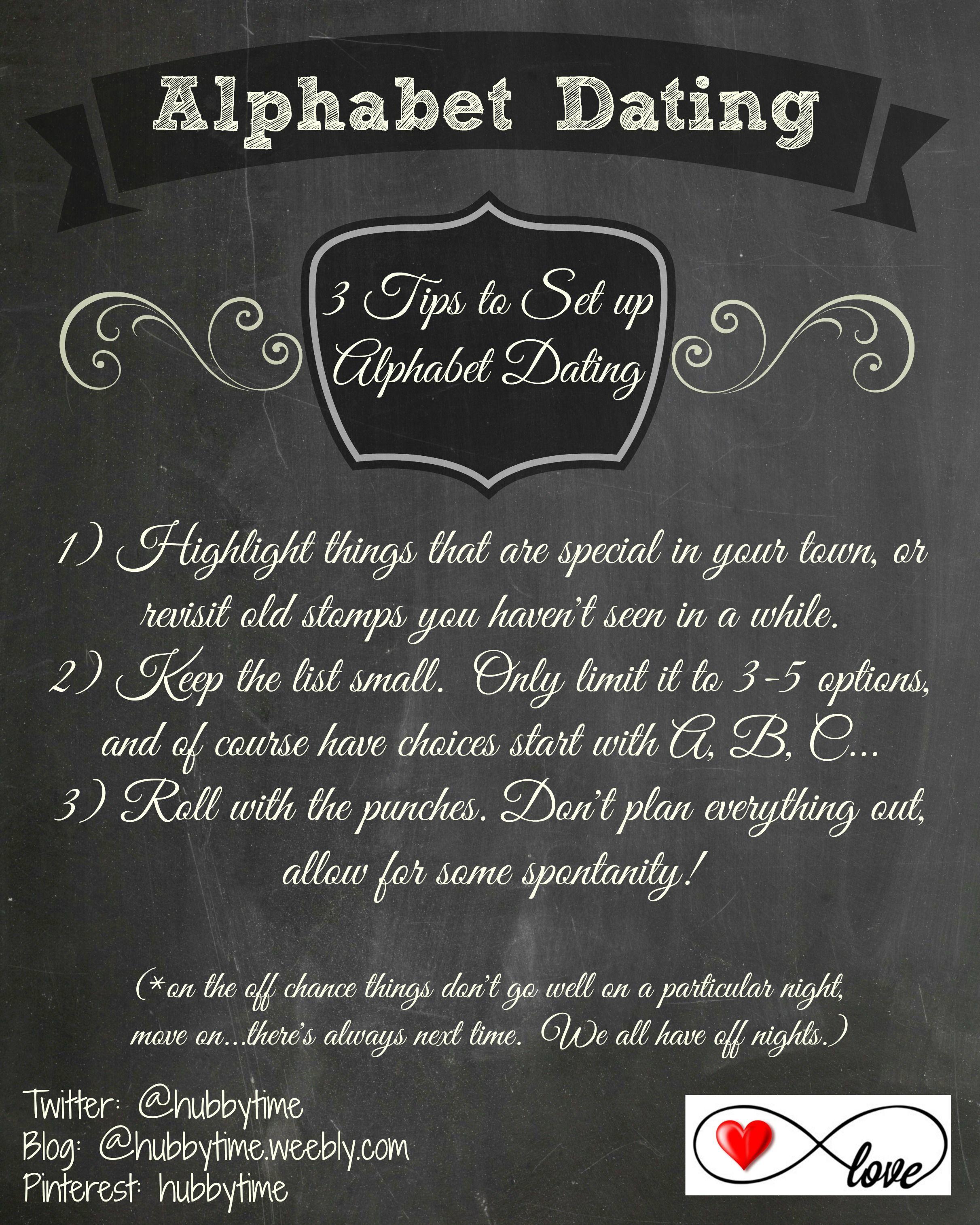 Alphabet dating ideas for older