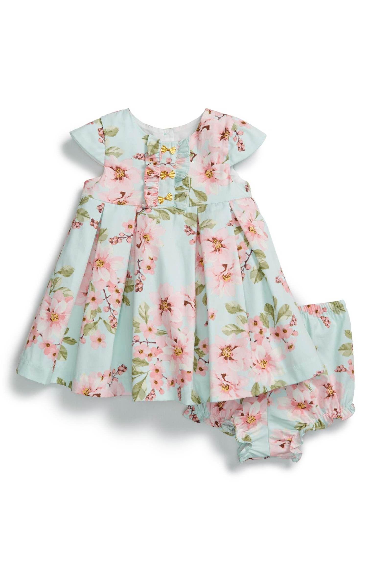 Main Image Pippa & Julie Floral Print Dress & Bloomers Baby Girls