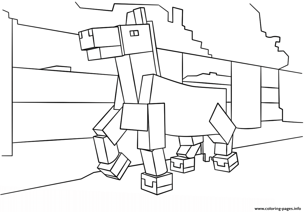 Ausmalbilder Minecraft Dorf : Print Minecraft Horse Coloring Pages Coloring Pages Pinterest