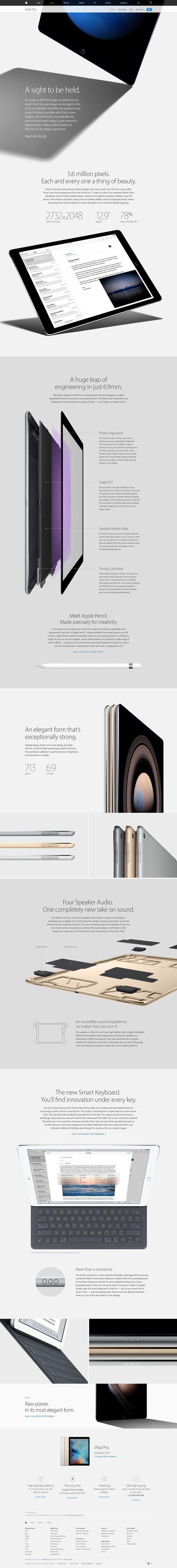 Apple iPad Pro web design