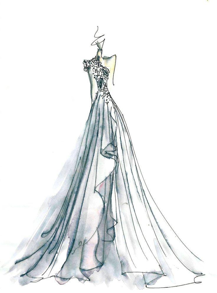Watercolour And Pen Fashion Illustration Watercolor Watercolor Fashion Fashion Sketches