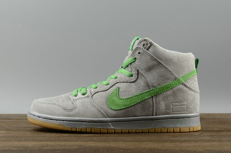 sports shoes a3afc 09490 2018 Purchase Nike SB Dunk High Silver Box Mens Skate Sneakers 313171-039 Metallic  Silver Hyper Verde-Gum Yellow Youth Big Boys Shoes