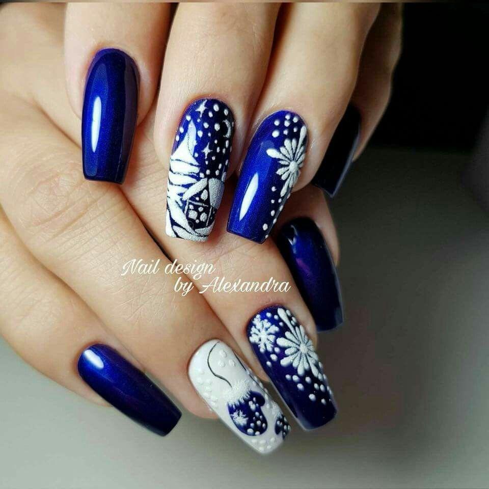 Pin by Надежда Коломиец on Ногти | Pinterest | Manicure, Winter ...