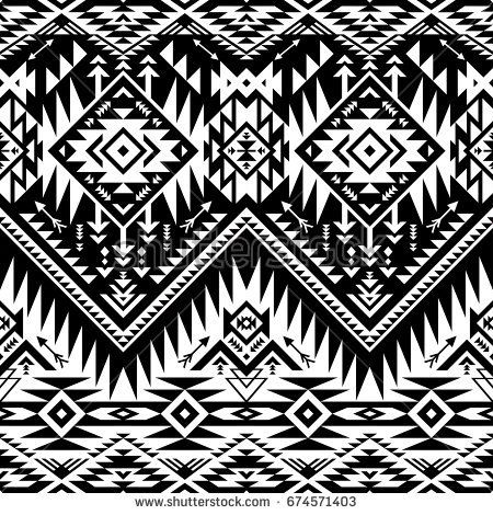 c18a7a856e142 black and white tribal vector seamless navajo pattern. aztec abstract  geometric art print. ethnic hipster vector background. Wallpaper, cloth  design, fabric ...