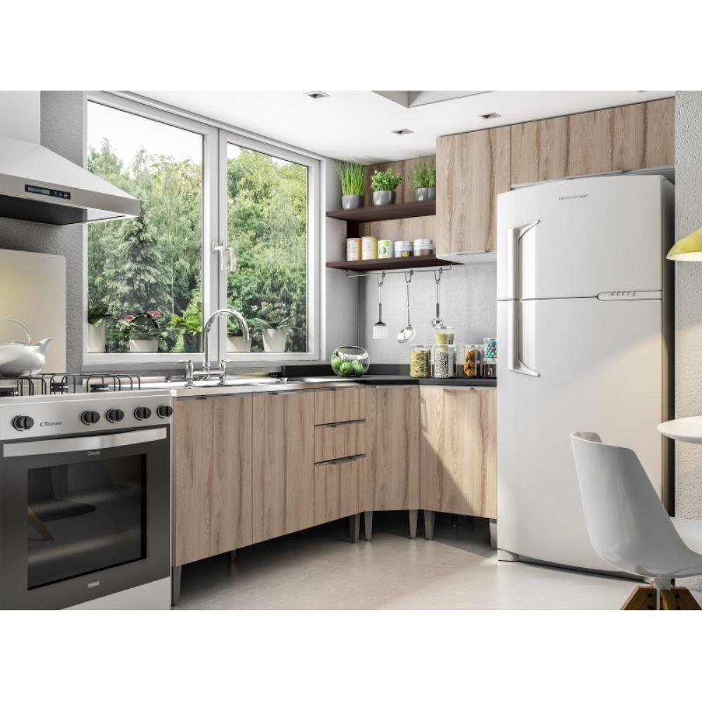 Cozinha Composicao Essence 12 Branco Tx Desira Trufa Preto Tx