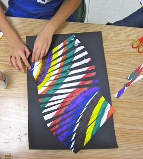 Amazing art adventures moving lines 3rd grade art for Crafts for 3rd graders