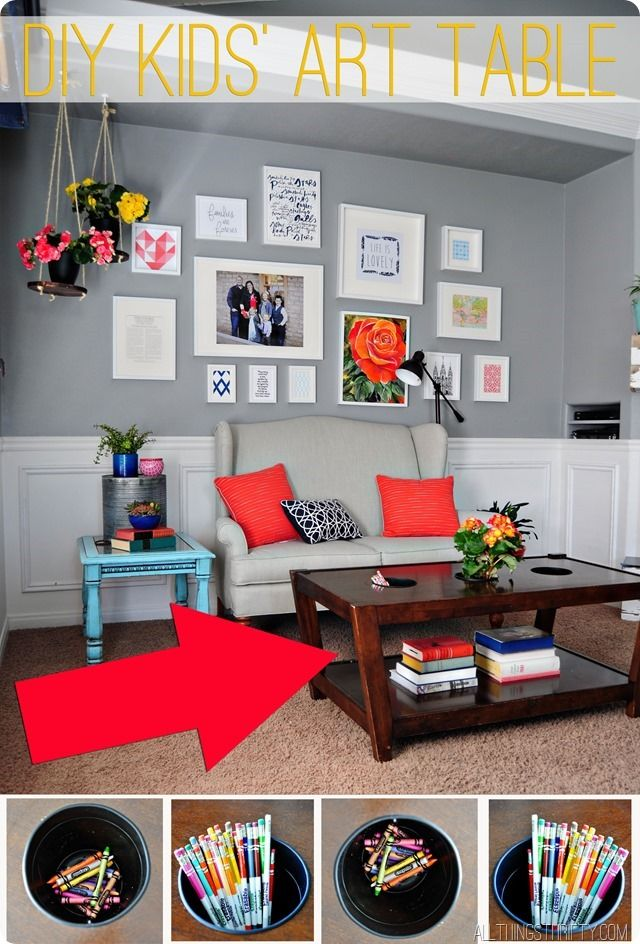 love this diy kidsu0027 art coffee table great stepbystep tutorial