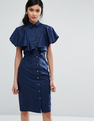 f9697fd1199 Closet London Frill Bib Shirt Dress