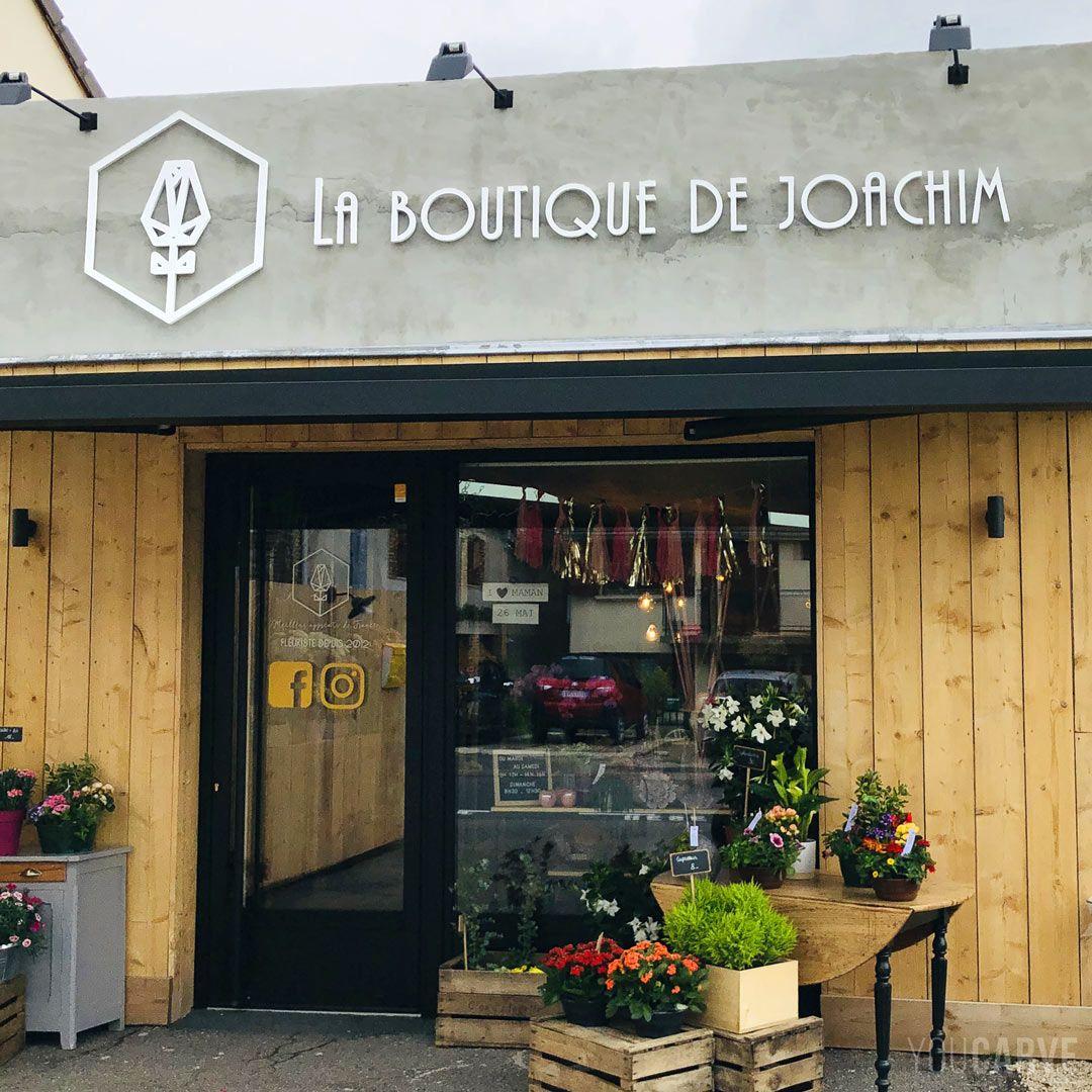 Enseigne Logo Et Lettres En Relief Pvc Magasins De Fleurs Epicerie Vrac Deco