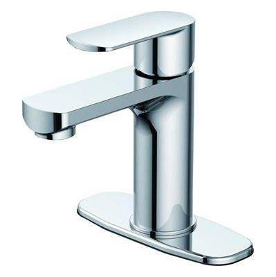 JACUZZI Skeena Chrome 1-Handle Single Hole WaterSense Bathroom ...