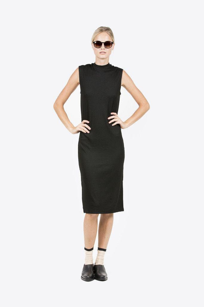 Midi Mock Neck Dress by Nomia #kickpleat #midimockdress #nomia