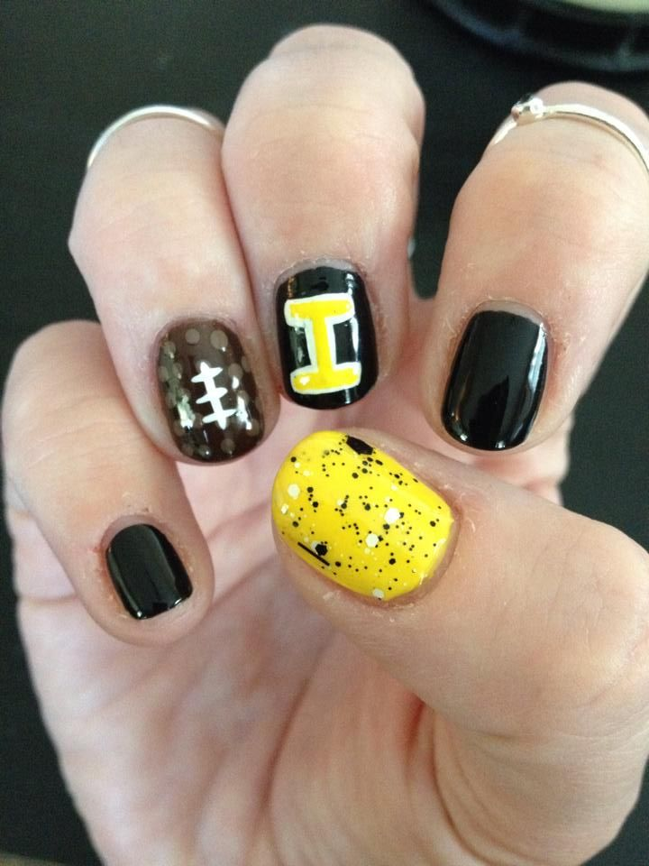 Iowa Hawkeye Nails | Nails work by my daughter Katherine | Pinterest ...