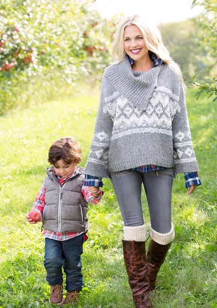 What do we love about the Free People Fairisle Split Neck Sweater ...