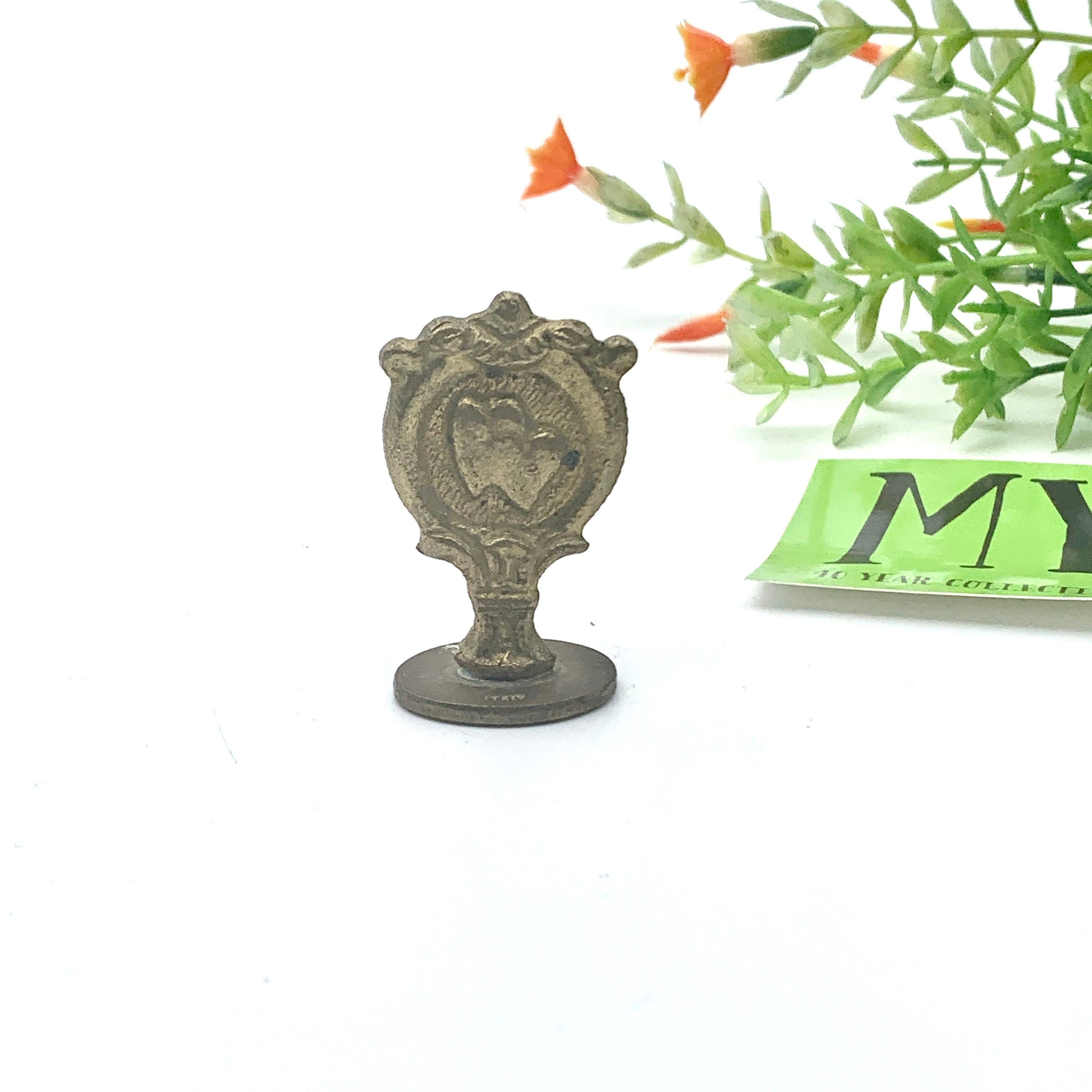 Vintage Brass Wax Seal Stamp Love Stamp Love Engraving Stamp Made in Italy Card…