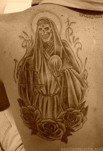 122 Tattoos De La Santa Muerte Tatuajes De Santa Muerte Muerte