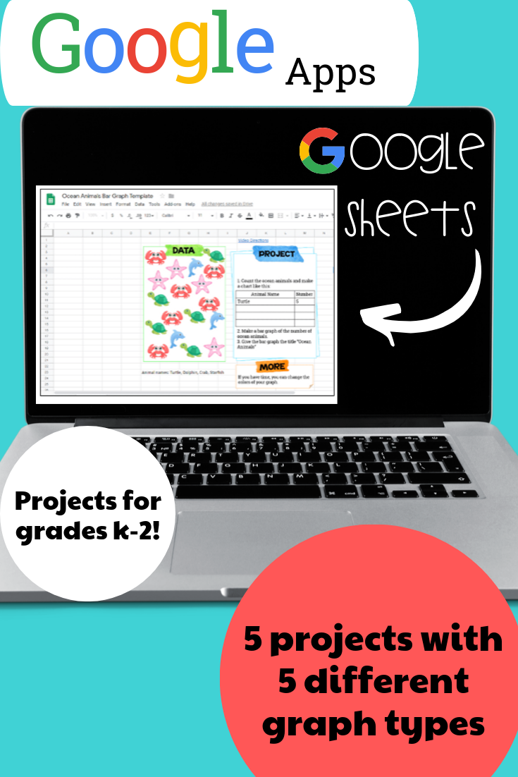 Google Sheets Projects for Grades K2 5 Types of Graphs
