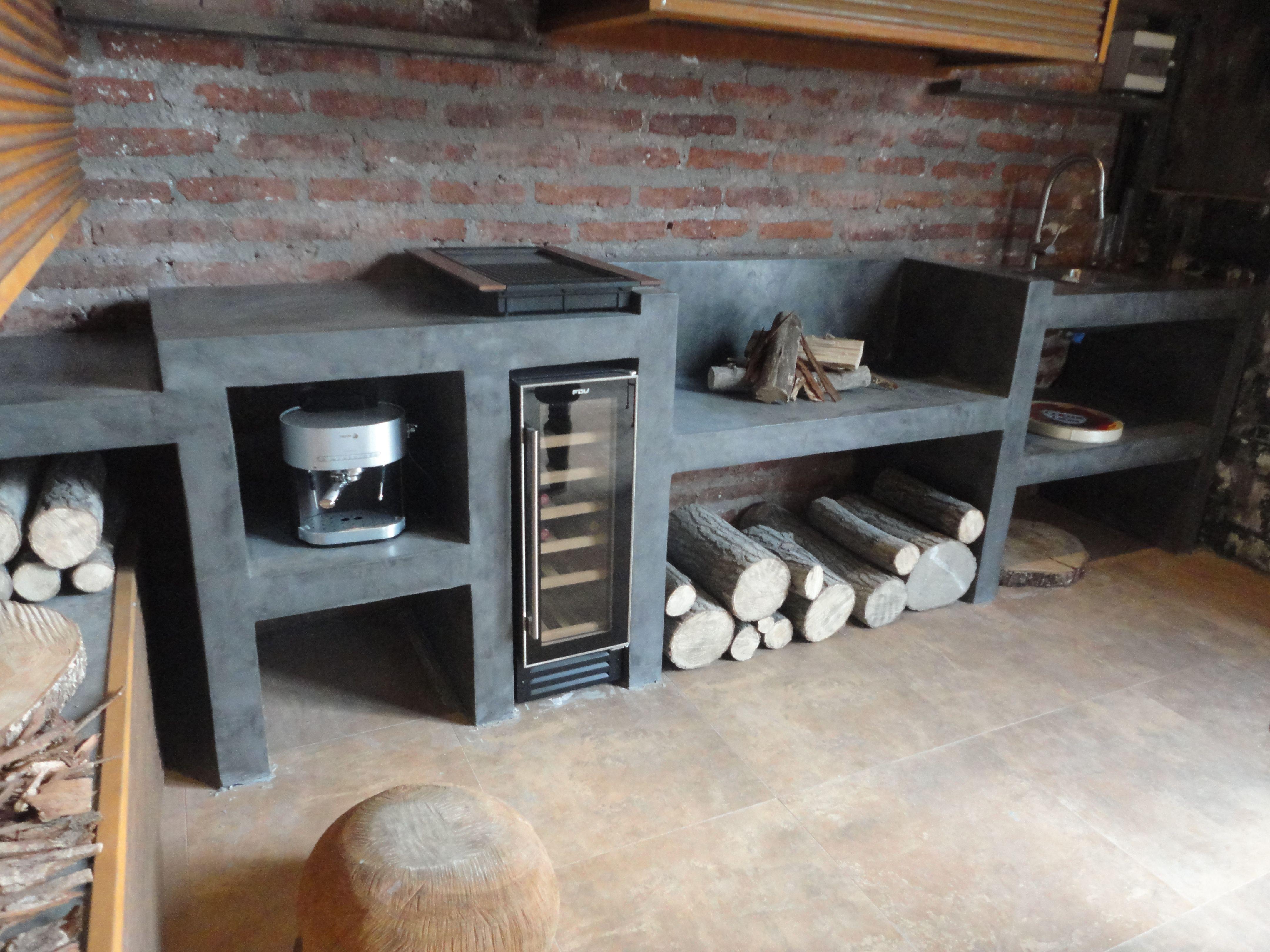Nuestro quincho en casacor jardin pinterest quinchos for Terrazas modernas en cemento