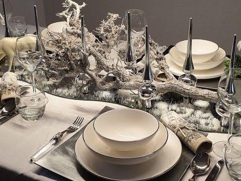 Weihnachtsdeko Tisch in Silber/weiss - Bärbel´s Wohn & Deko Ideen