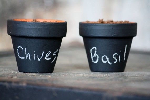 I miss my herb garden so much... but this is cute enough that I may just create a new indoor version!