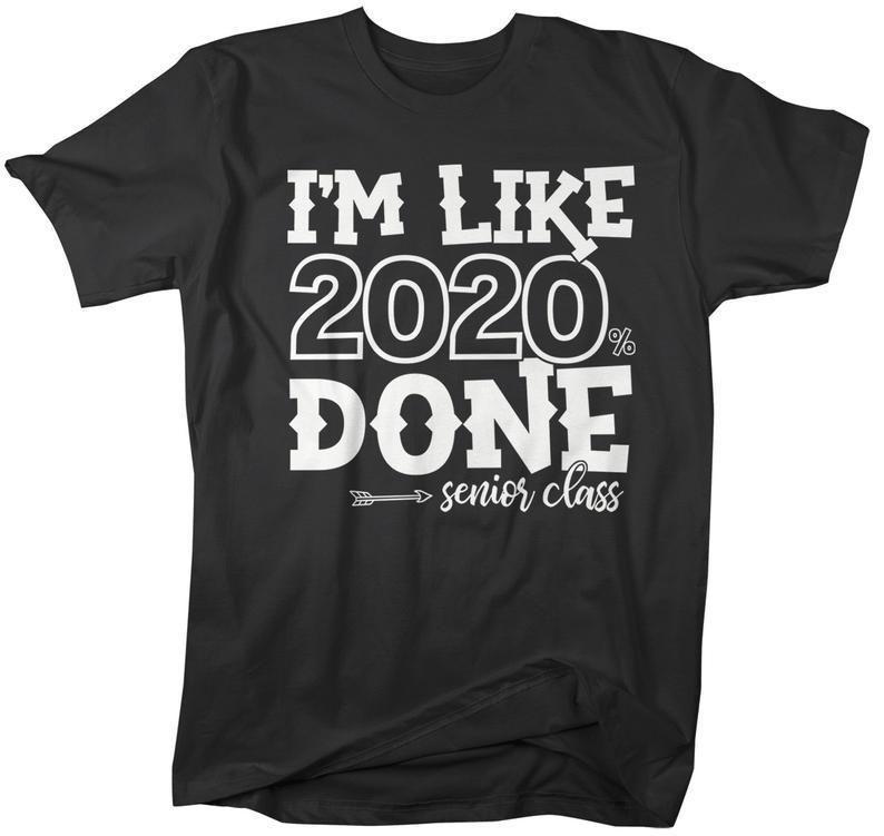 Men's Senior 2020 T Shirt Funny Graduate Tee Like