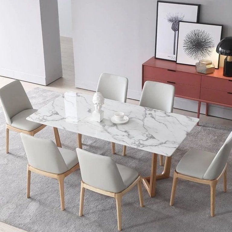 Faux Marble Will Be On Trend In 2020 In 2020 We Are Going To See A Big Shift Of People Using Faux Marble Dining Table Dining Table Marble Modern Dining Table