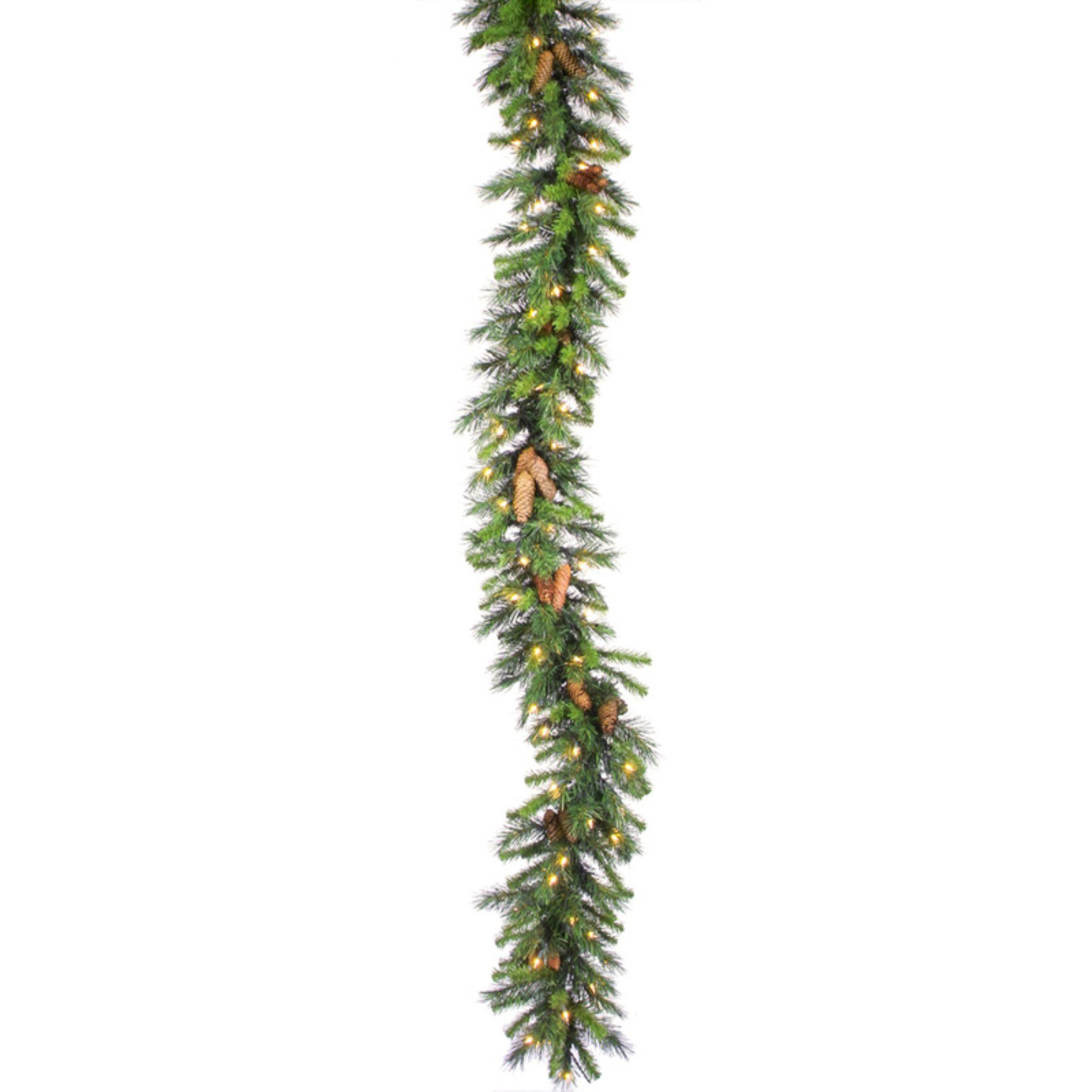 Cheyenne Pine Pre Lit Garland With Cones  A800912