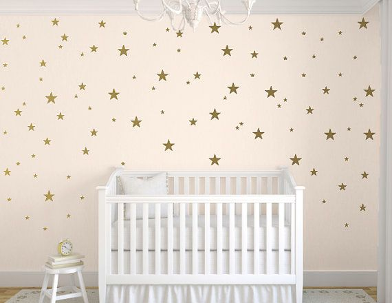 Gold Star Decals, Star Wall Decal, Nursery Wall Decals, Star Wall ...