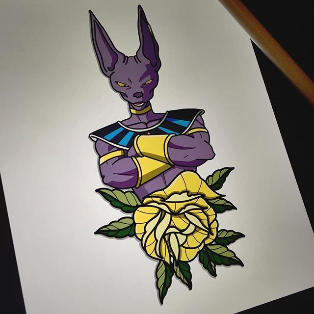 Did This Beerus Laatnight, Might Do Prints Of It For
