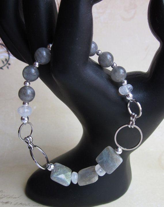 ModLAb   Blue Flash Labradorite Bracelet by JKDKdesigns on Etsy, $24.00