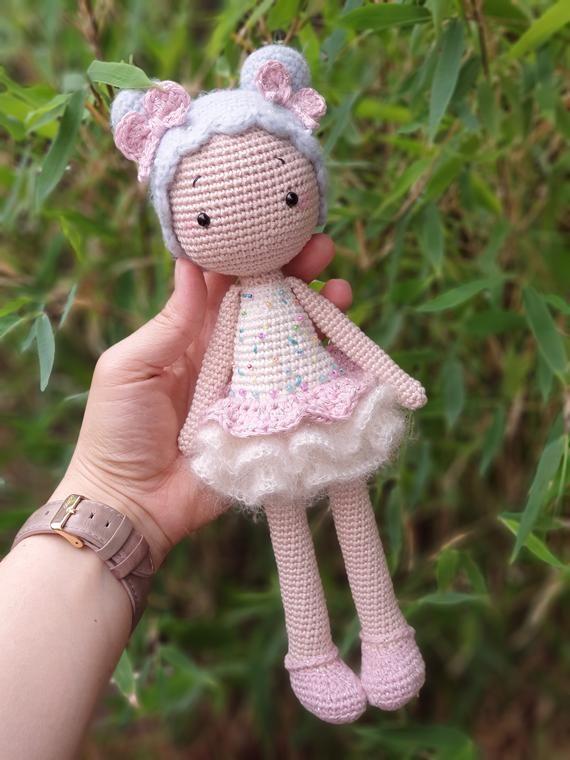Amigurumi Puppe Häkelanleitung Candy Girl PDF Datei (Deutsch/ Englisch/Niederländisch/Russisch) #muñecosdeganchillo