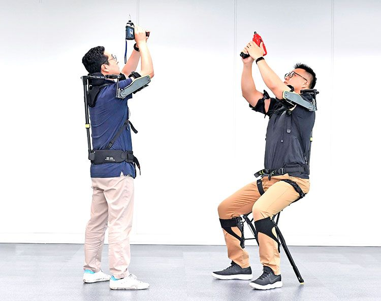 Hyundai Introduces Vest And Chairless Exoskeleton