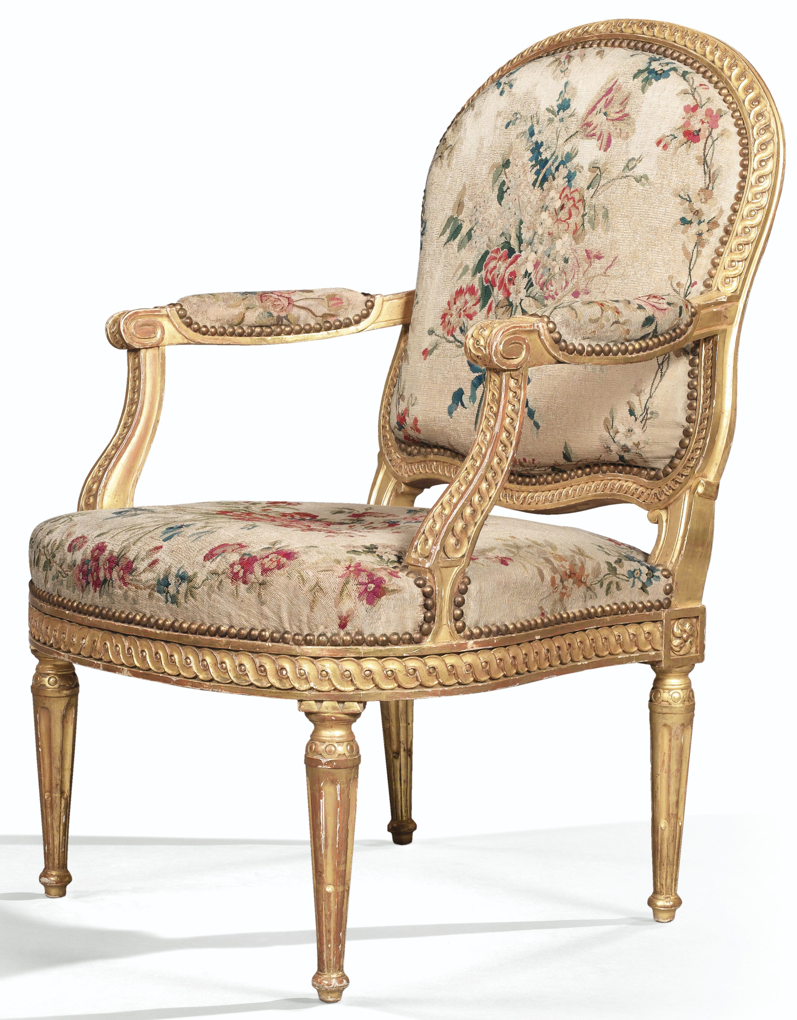 A Set Of Six Giltwood Armchairs And A Sofa Louis Xv Attributed To Louis Charles Carpentier Circa 17 Fauteuil Louis Xvi Meubles Victoriens Mobilier De France