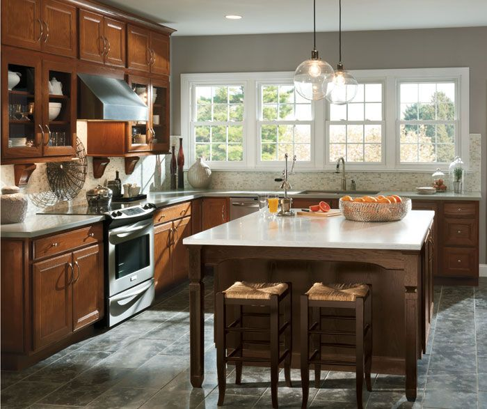 Aristokraft Landen Saddle Kitchen Cabinets Google Search Kitchen Cabinets Pinterest Oak