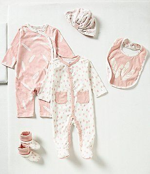2b8fede4e585 Jessica Simpson Baby Girls Newborn-3 Months 5-Piece Gift Boxed Layette Set