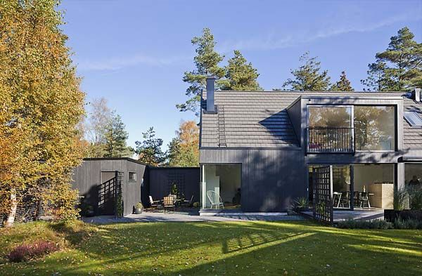 Swedish Combination Of Traditional Elements And Modern Design Lima House Scandinavian Architecture Bungalow House Design Architecture
