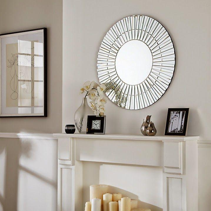 Round Art Deco Style Mirror