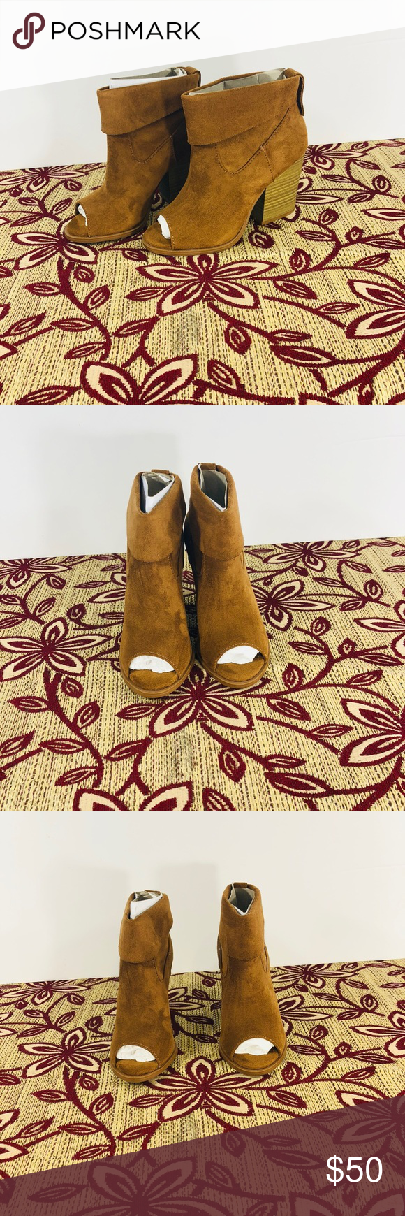 "ef0bedc3b03 Pop Shawnee women shootie size 5M ▫ brand   pop ▫ size   5M ▫ color    cognac ▫ shoe heel height   3 1 2"" ▫ width medium Alternate closure ..."