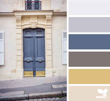 a door tones - design seeds (I think I could do a whole house in these colors. Lovely and soothing)
