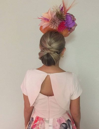 Races Hairstyles With Fascinators Hair Ideas For Race Day Fascinator Hairstyles Race Day Hair Wedding Hair Inspiration