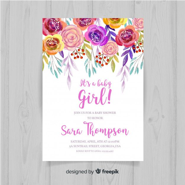 Floral Baby Shower Template Roczek Hani In 2019 Baby Shower