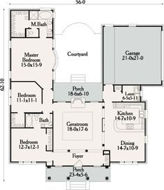 Cottage House Plan with 3 Bedrooms and 2 5 Baths Plan 3497