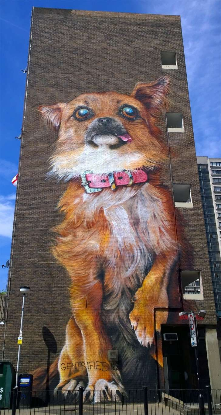 Giant Animal Street Paintings Take Over the City of London [PHOTOS] - http://dashburst.com/pic/giant-animal-street-paintings-london/