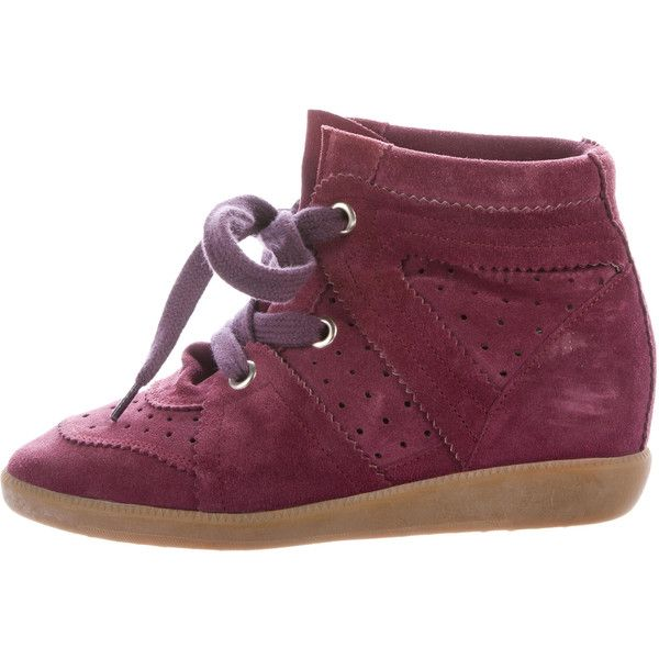 acce9c7aef87 Pre-owned Isabel Marant Bobby Wedge Sneakers ( 245) ❤ liked on Polyvore  featuring