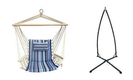 Backyard Expressions Hammock Chair with Stand   Hammock ...