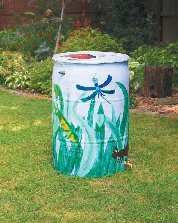 How To Make A Rain Barrel Empress Of Dirt Rain Barrel Rain Barrels Diy Garden Art Projects