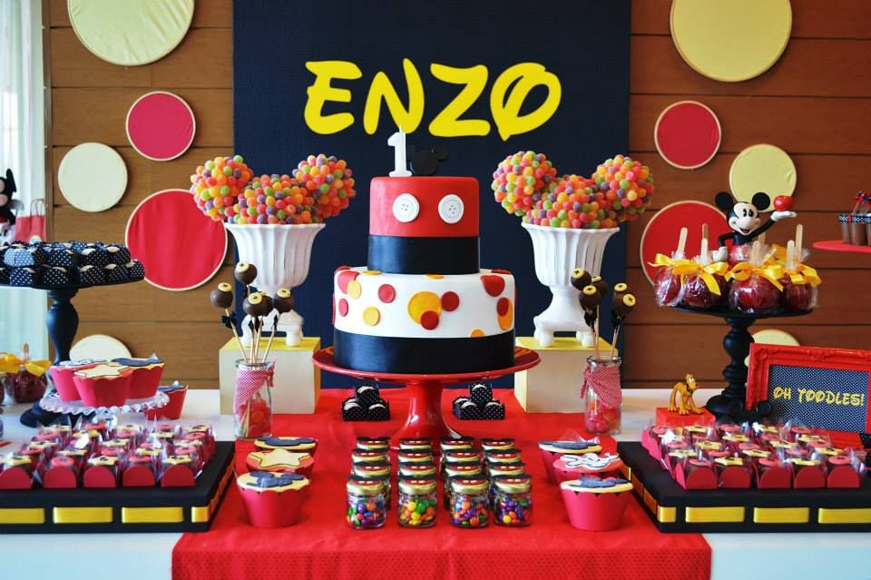 Mickey Mouse Party Ideas & Supplies via www