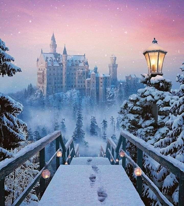 Schloss Neuschwanstein Im Winter Winter Foto S Kasteel Neuschwanstein Duitsland Kastelen