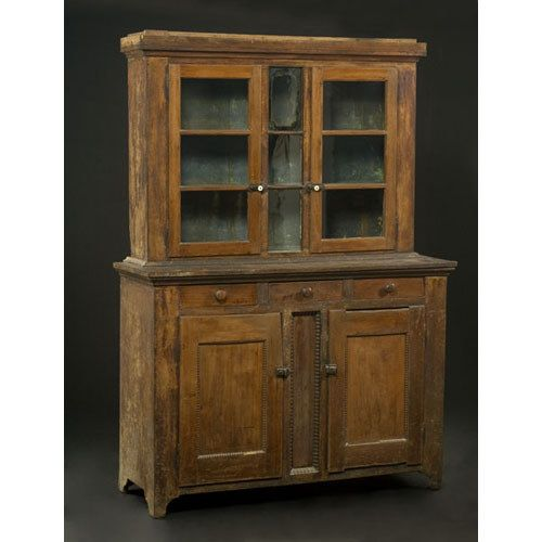 Best Ohio Step Back Cupboard Attributed To New Bremen 400 x 300
