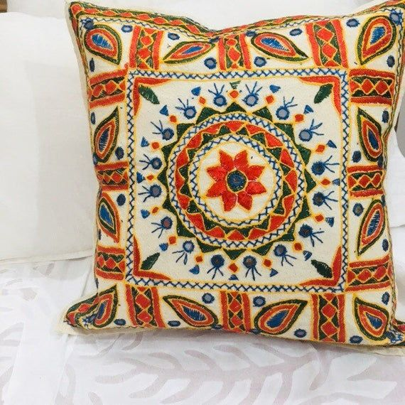 Tribal Cushion covers - Boho Throw Pillows - Sham Covers - Cotton White Cushion Covers - Boho Pillow